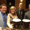 When the four of us played a wedding at the Bissinger's Carmel Room.