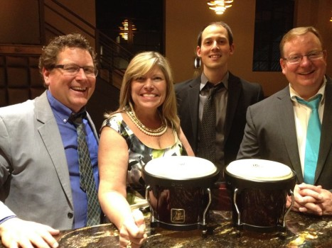 The KM4 + bongos at the Bissinger's Carmel Room.