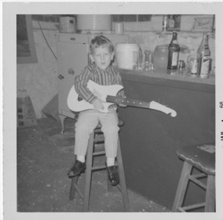 Kevin warming up for tonight's rehearsal, circa 1968. (Takes him a while to warm up)