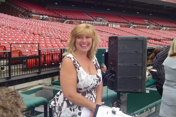 Barb & The Kevin Mitchell 4 at Busch Stadium.