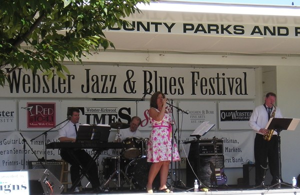 Kevin Mitchell 4 at Webster Jazz & Blues Festival.